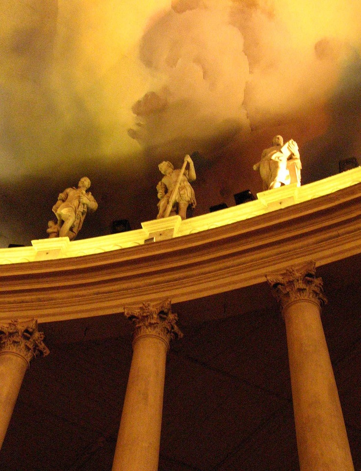 Inside the Olympic Theater, Vicenza, Italy.