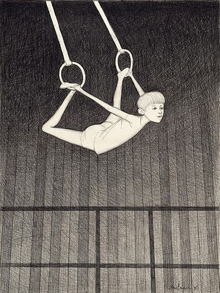 Study for On The Rings-John Brack (1920 – 1999, Australian) the idea of using tonal variation to create focal points