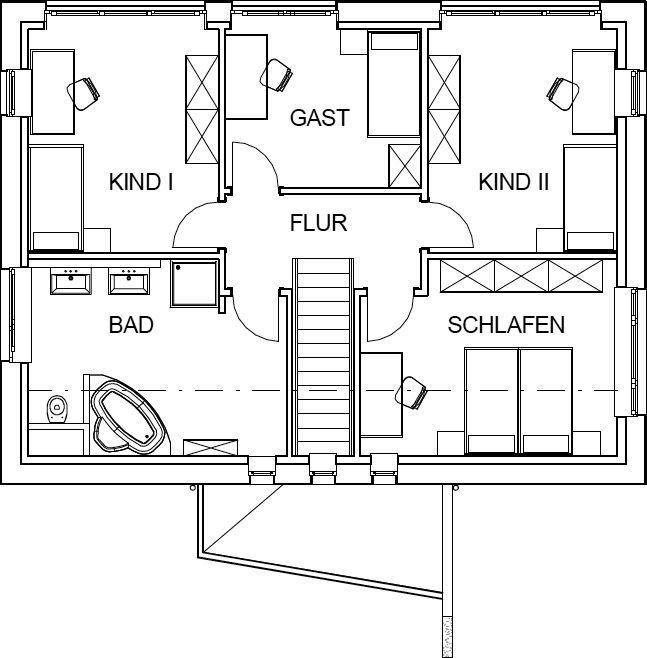 Pultdachhaus grundriss mit 71 91 m wohnfl che im for Pultdachhaus grundriss