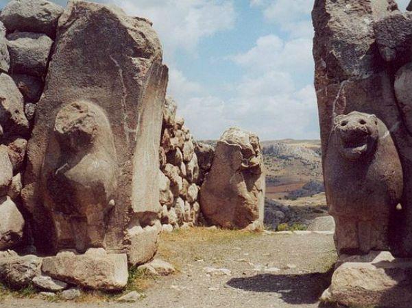 "Vestígios do ""Império Hitita"". Hattusha, Turquia."