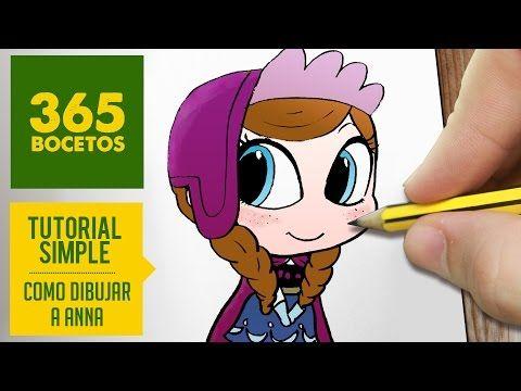 COMO DIBUJAR ANNA DE FROZEN PASO A PASO - Dibujos kawaii faciles - How to draw a Anna - YouTube