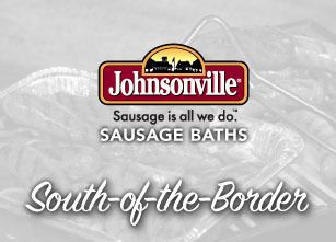 Mouth-watering chilies, tomatoes, and cilantro help to capture the fire of the grill as you eat Johnsonville Grilling Chorizo Sausage Links. Johnsonville South-of-the-Border Sausage Bath
