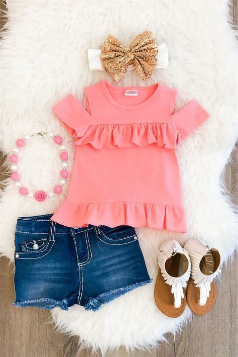 CORAL Sunkissed Shoulder Shirt