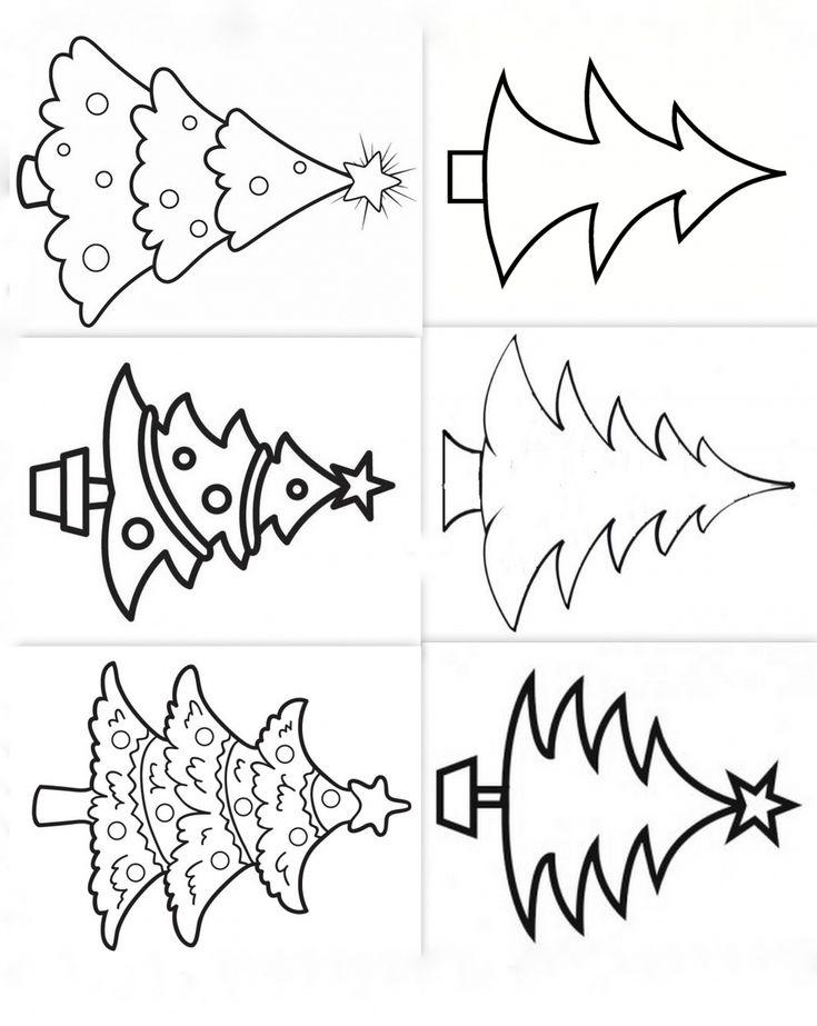 Les 25 meilleures id es de la cat gorie coloriage sapin sur pinterest page coloriage sapin - Sapin a dessiner ...