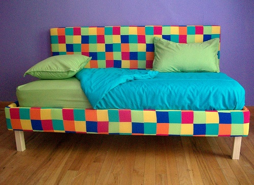 Diy Chill Spot For My Kids Using Their Old Crib Mattresses Shared Bedroomskid Bedroomstoddler Bedding