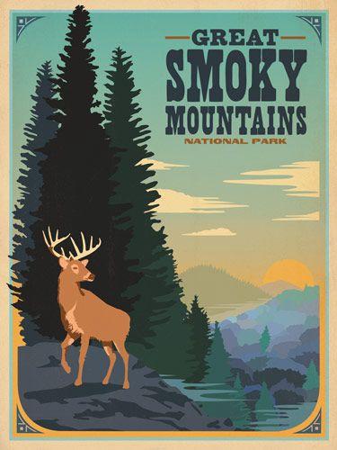 affiche poster vintage usa ville 23 Affiches touristiques vintages des USA  design bonus