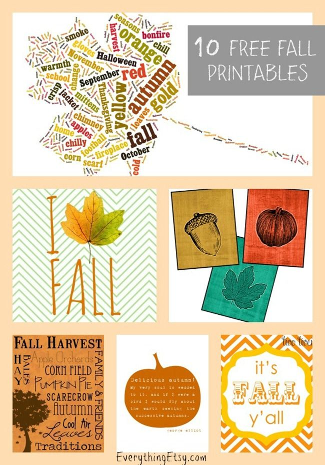 10 Fall Printables to Welcome in the Season...easy DIY beautiful! #printables #fall