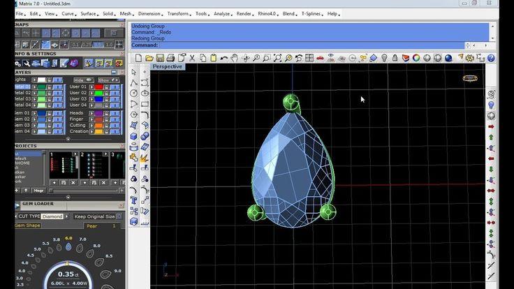 Basic Rhino cad pear kolet for Jewellery design