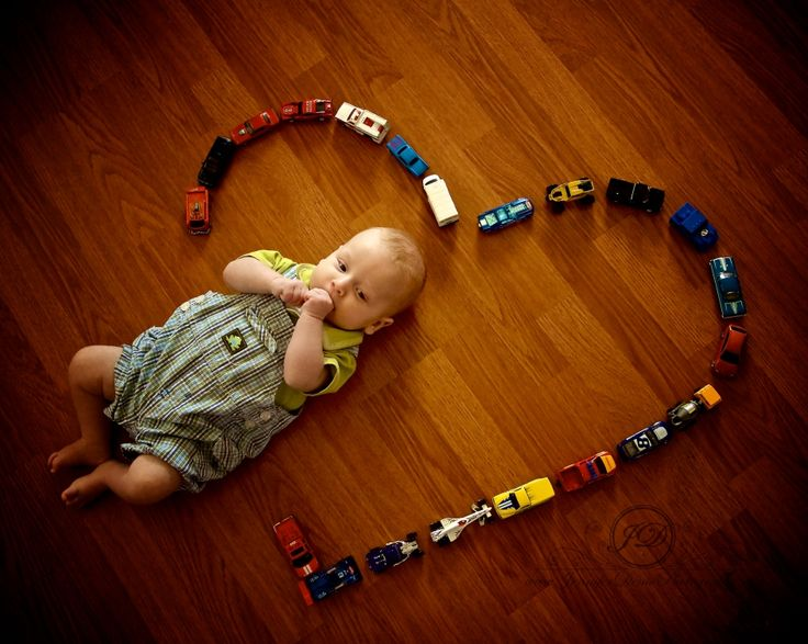 Cute idea for as he grows, surround him with whatever he is interested in.