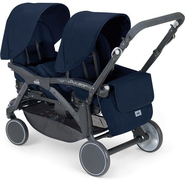 Cam Twin Pulsar Tandem Pram Reversible Seats blue - Collection 2013
