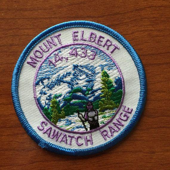 Mount Elbert Sawatch Range Vintage Souvenir by HeydayRetroMart