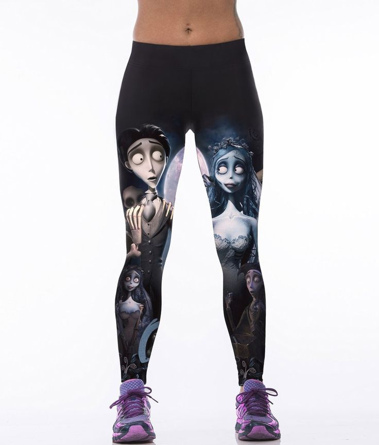 Corpse Bride 3D Print Women Sexy Fitness Sport Leggings Running Body building Gym Clothes Punk Rock Pants Ropa Mujer UA-HKB037