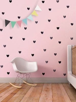 sweet diy idea...painting hearts on the wall...