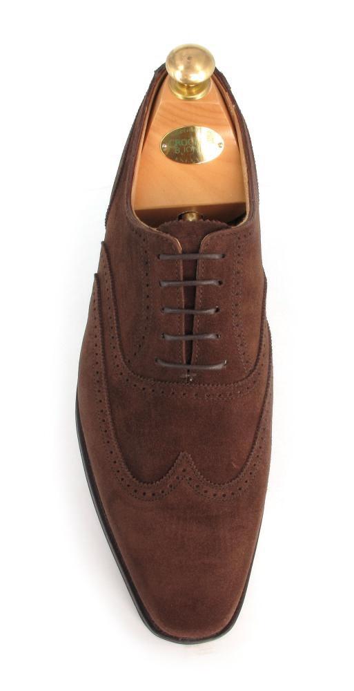 Crockett & Jones Drummond Mink Suede shoes