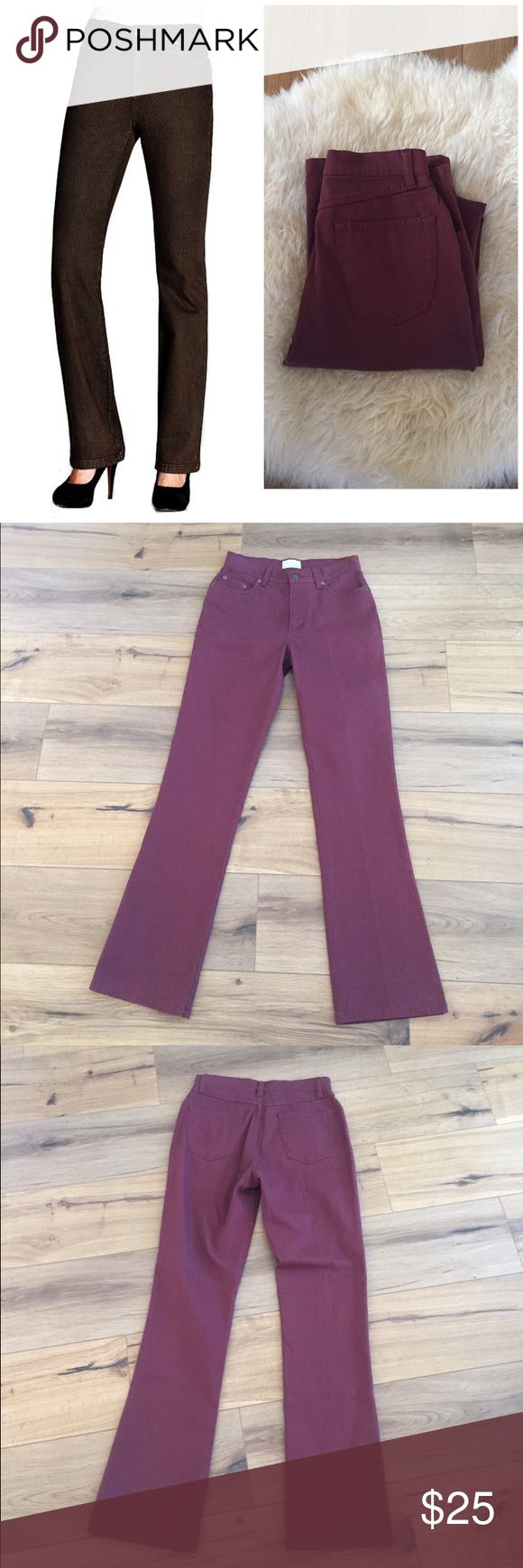 Fdj French dressing jeans Olivia flare Crafted of overdyed denim in a slimming, comfortable cut, FDJ French Dressing's Olivia flare jeans are tailored through the hips, slim through the thighs, and feature a hint of Lycra® for stretch and shape retention. Color is wine french dressing Jeans Flare & Wide Leg