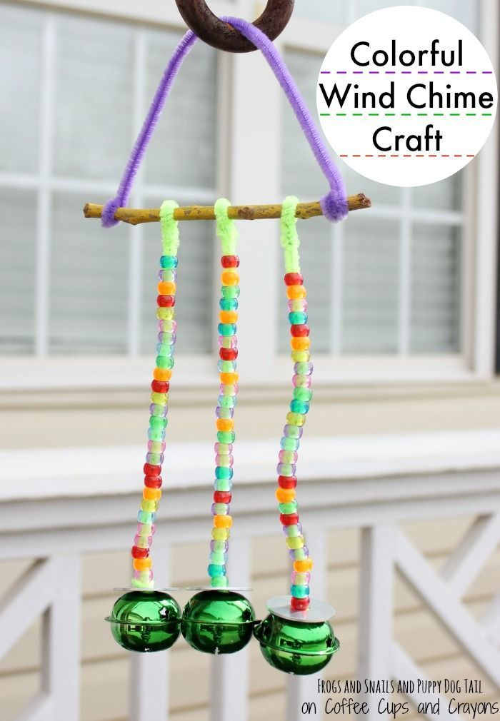 colorful wind chime craft for kids