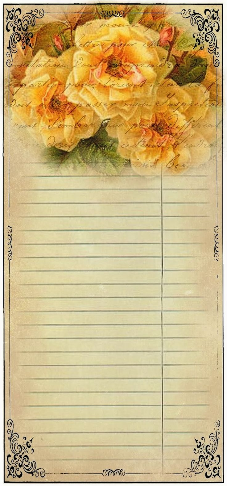 Yellow flower paper note