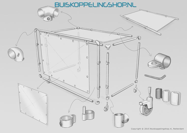 Wij raden aan om de DJ Booth in buisdiameter 33,7mm of 42mm uit te voeren. Verstandig is om daarbij te kiezen voor aluminium buizen vanwege het beperkte gewicht. Ook voor het spandoek kunt u bij ons terecht!  www.buiskoppelingshop.nl