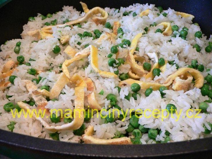 Hrášková rýže s vejcem