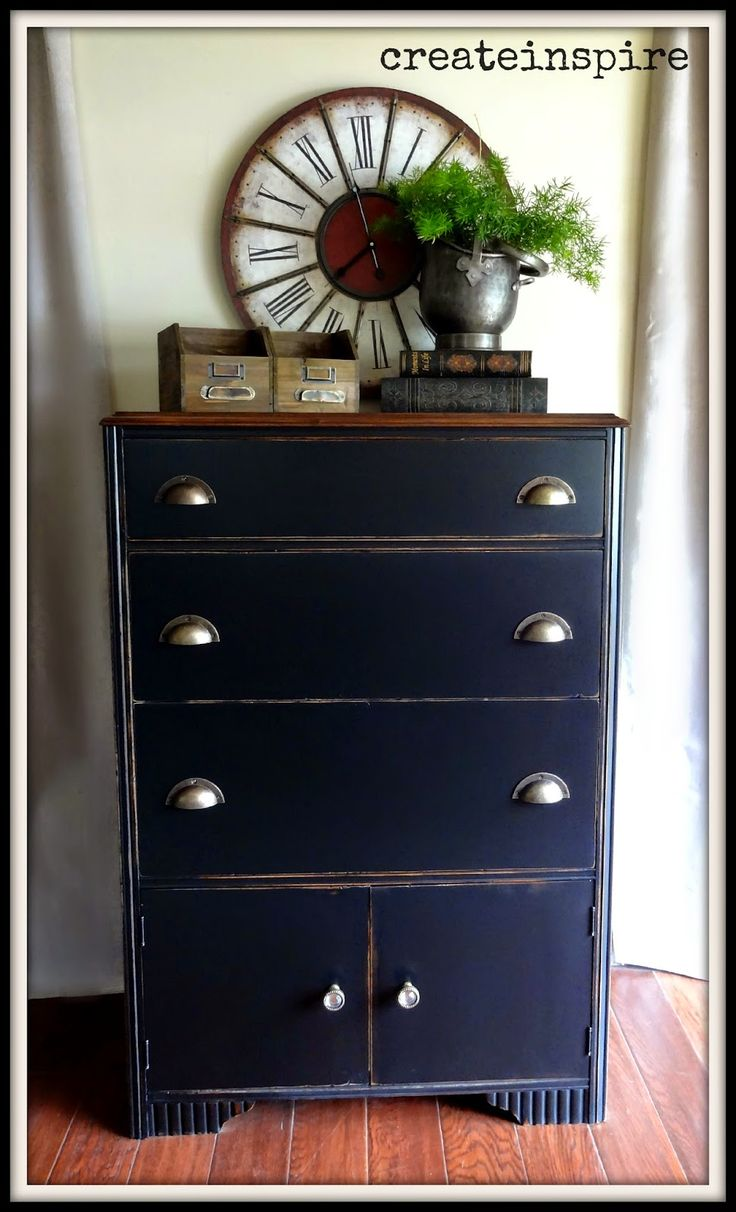 Update an antique with a fresh coat of paint refresh for Black furniture