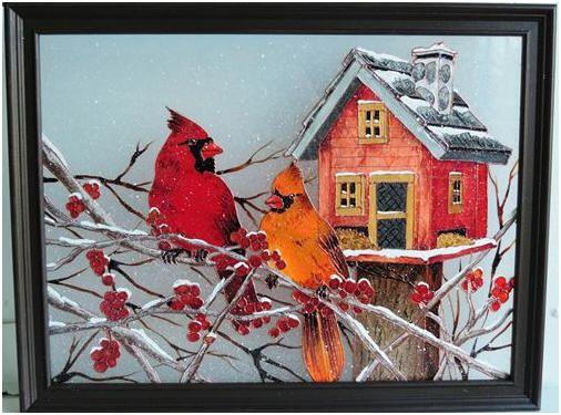 Les 395 meilleures images propos de faux vitrail sur for Fenetre a cardinal