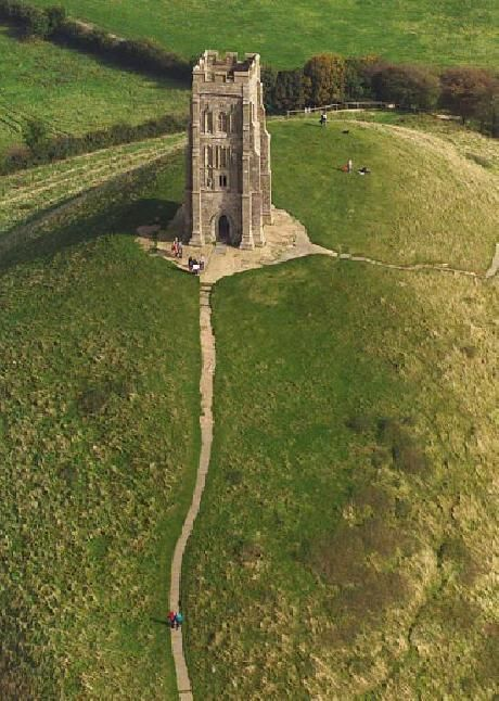 St. Michael's Tower (1360) Glastonbury Tor, Glastonbury, Somerset, UK