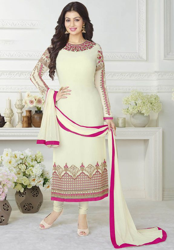 Ayesha Takia Cream Straight Fit Suit