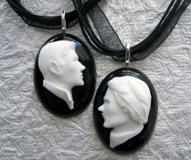 Supernatural - Set of Two Necklaces - Sam & Dean Winchester Cameo Necklaces. $25.00, via Etsy.