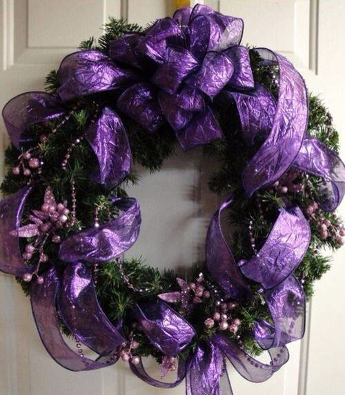 Christmas Decorations In Purple: 32 Best Purple Christmas Images On Pinterest
