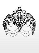 Colombina Amante de metallo nero Venetian Metal Mask - maskworld.com