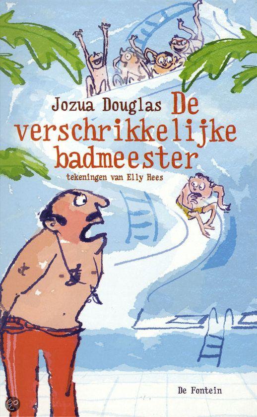 Jozua Douglas - De verschrikkelijke badmeester || De Fontein 2012, 208 pagina's || op tiplijst Kinderjury 2013 || Vader De Bruin hoopt dat zijn zoon Lev wereldkampioen zwemmen wordt. De verschrikkelijke badmeester Boris Brulboei moet daarvoor zorgen. Maar door hem raken Lev en zijn buurmeisje betrokken bij een ontvoering. || www.bol.com/nl/p/de-verschrikkelijke-badmeester/9200000005454415/