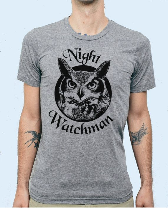 Night Watchman Owl Tee By Ben Prints, Click For More Pics