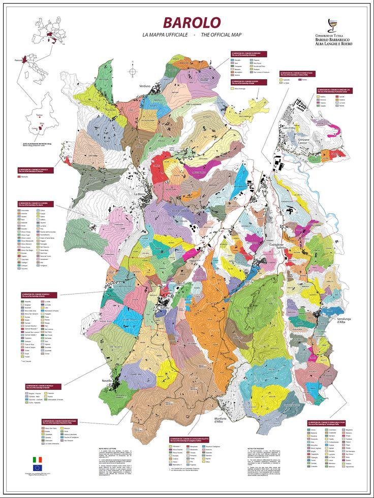 Mappa dei Cru di #Barolo #vino #winelovers #wine