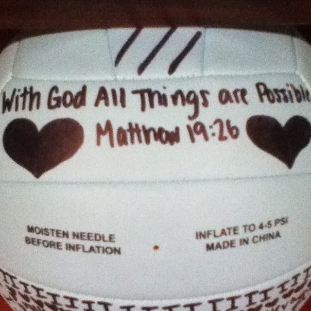 Cute idea for decorating your volleyball :]