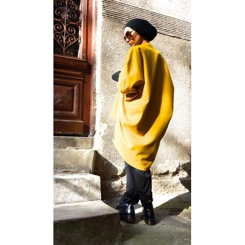 Winter Mustard  Cashmere and Wool Poncho A01160 #winter #mustard #poncho #extravagant #wool #draped #loose #romantci