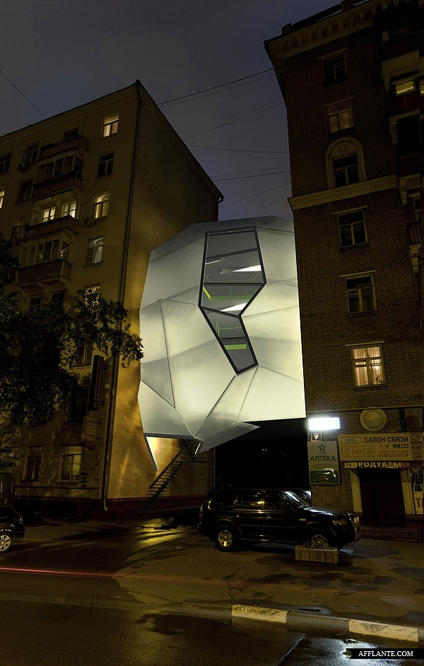 Futuristic U0027Parasite Officeu0027 In Moscow // Za Bor Architects | Afflante.com