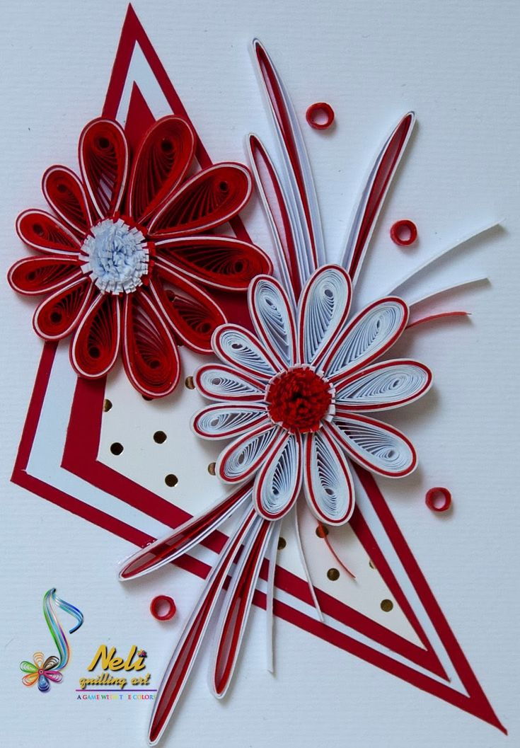 *QUILLING ~ by:  neli: Quilling cards-/10.5 cm-7.4 cm/