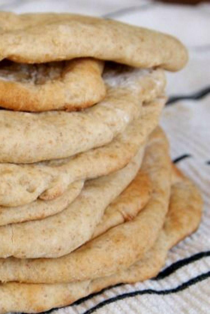 No knead whole wheat pita recipe.