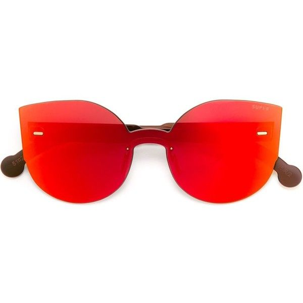 Retrosuperfuture Tuttolente Lucia Sunglasses ($248) ❤ liked on Polyvore featuring accessories, eyewear, sunglasses, glasses, occhiali, shades, red, retrosuperfuture, acetate glasses and retrosuperfuture glasses