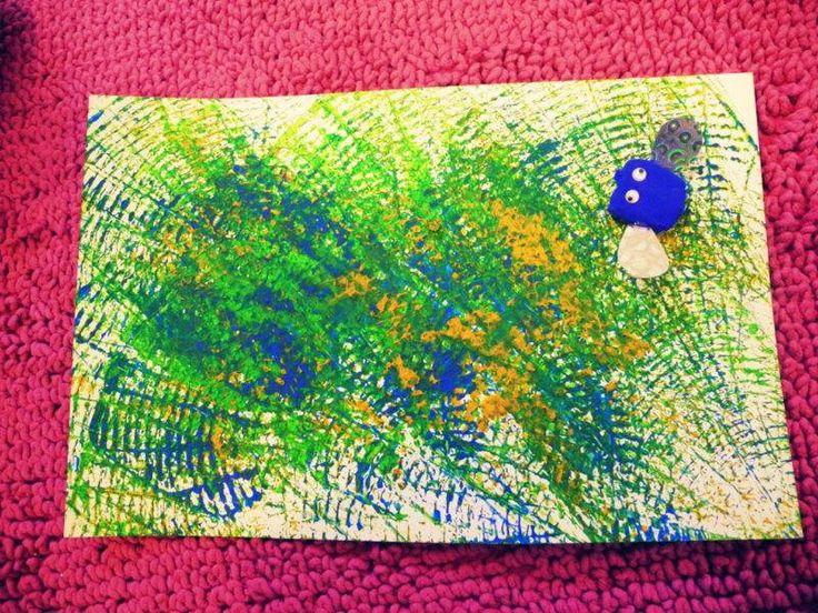Kunst met vliegenmeppers! -origineel idee van Céline Waedemon-