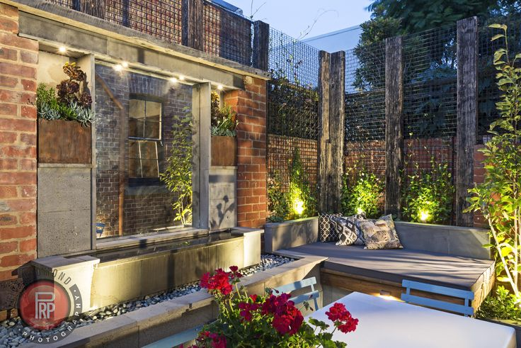 Great use of a small space built by Franklin Landscape & Design