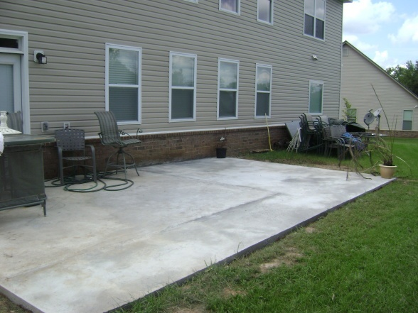 Exceptional Poured Concrete Patio Ideas | No Colors   Patios Deck Designs   Decorating  Ideas   HGTV
