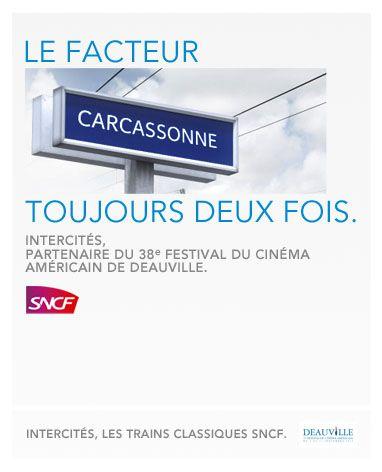 Publicité SNCF 2012 pour le Festival du cinéma américain de Deauville  © la Réclame