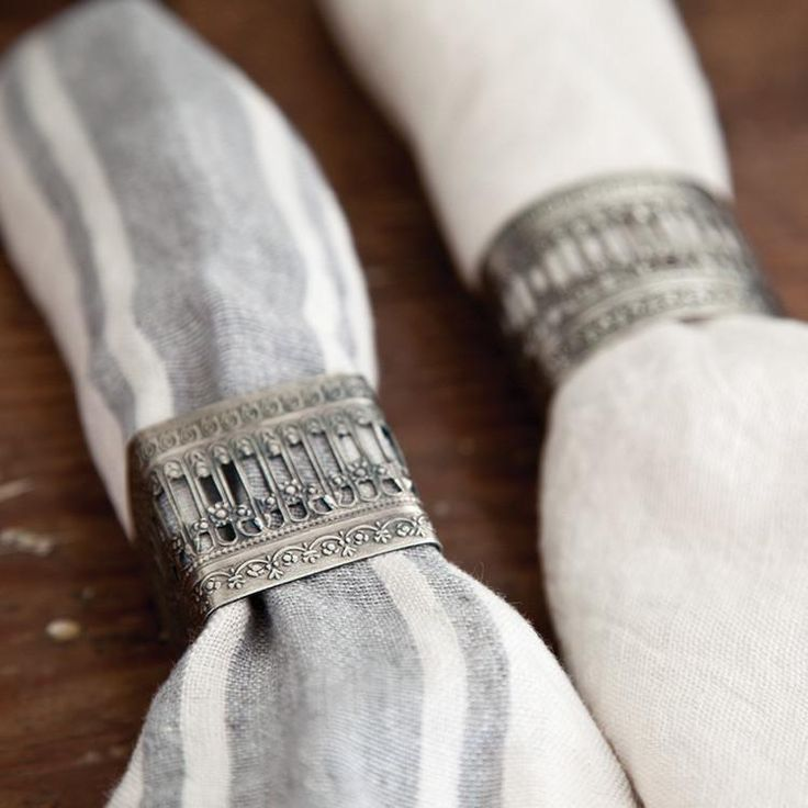 Set of 4 Victorian Napkin Rings design by Pom Pom at Home