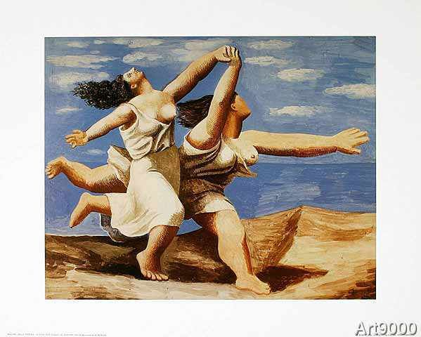 Pablo Picasso - Two women running on the beach