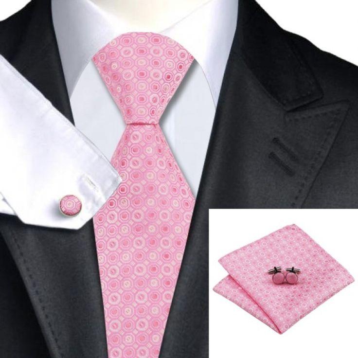 Подарочный галстук в розовый горошек с белым - купить в Киеве и Украине по недорогой цене, интернет-магазин