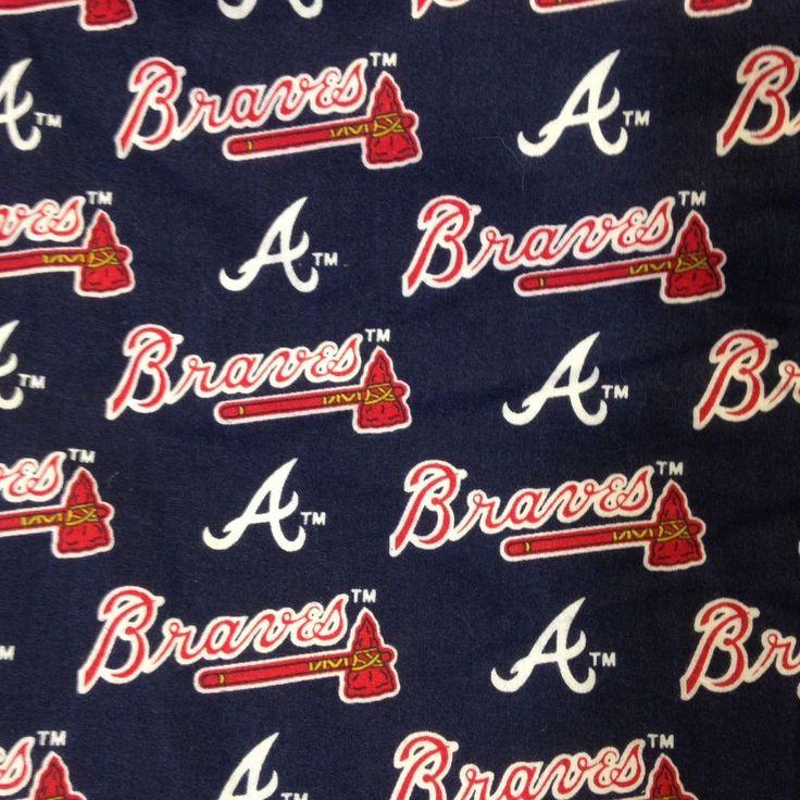 Atlanta Braves Handmade Window Curtain Valance MLB Baseball Man Cave 80 x 15 #Handmade #Novelty