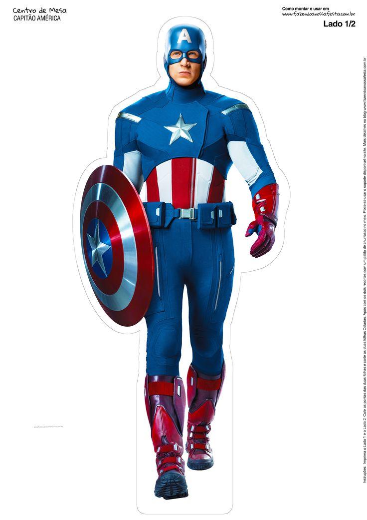 Uau! Veja o que temos para Centro de Mesa Vingadores Capitão América 2 1 -2