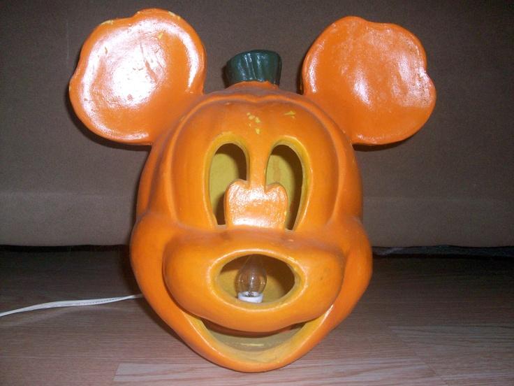 Halloween, Mickey Mouse Pumpkin Head