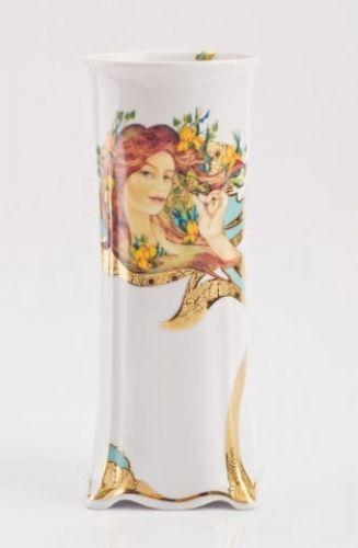 Hollóházi porcelán Faragó Miklós 5151 Váza ( 18 cm) 2406 Tavasz